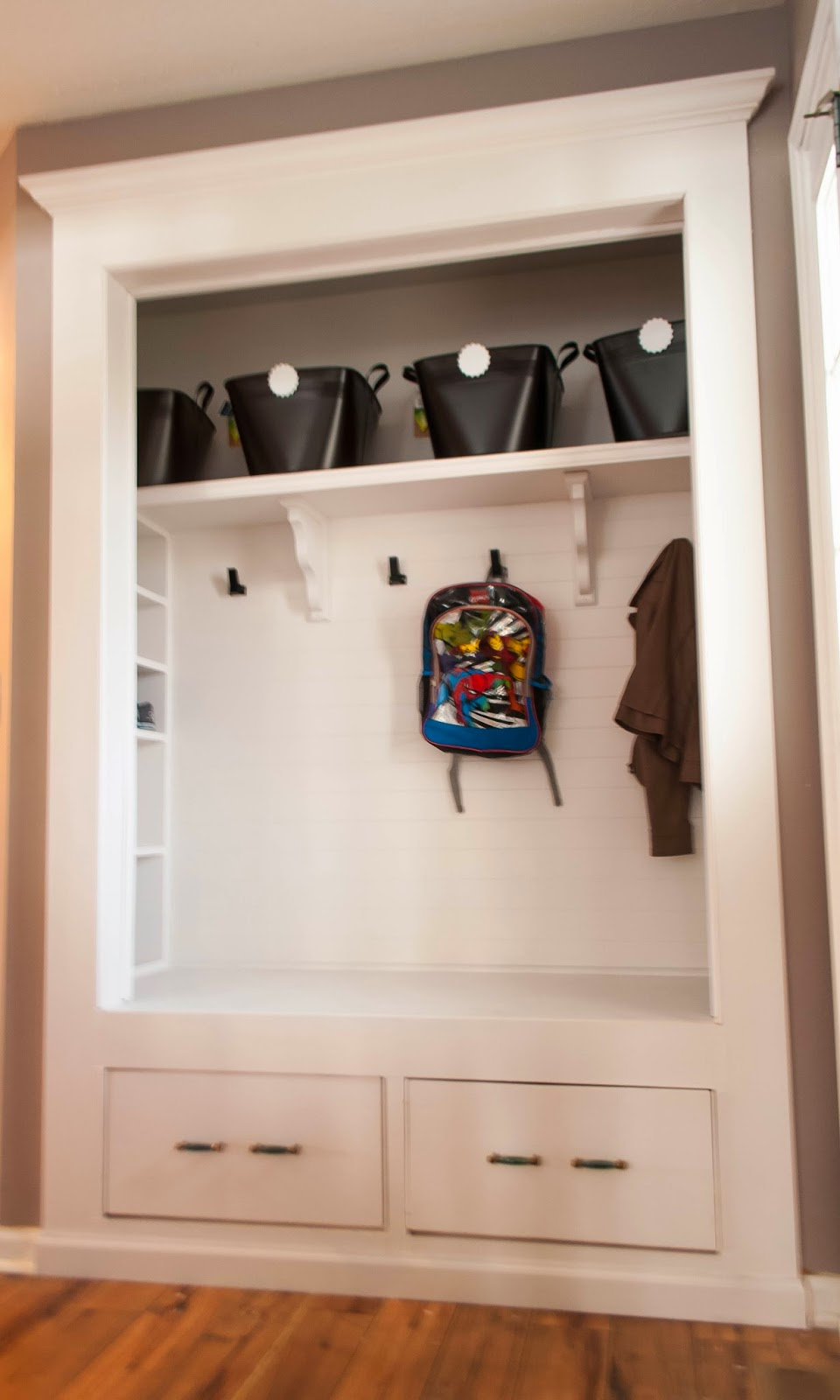 Always Chasing Life Mudroom Closet Reveal
