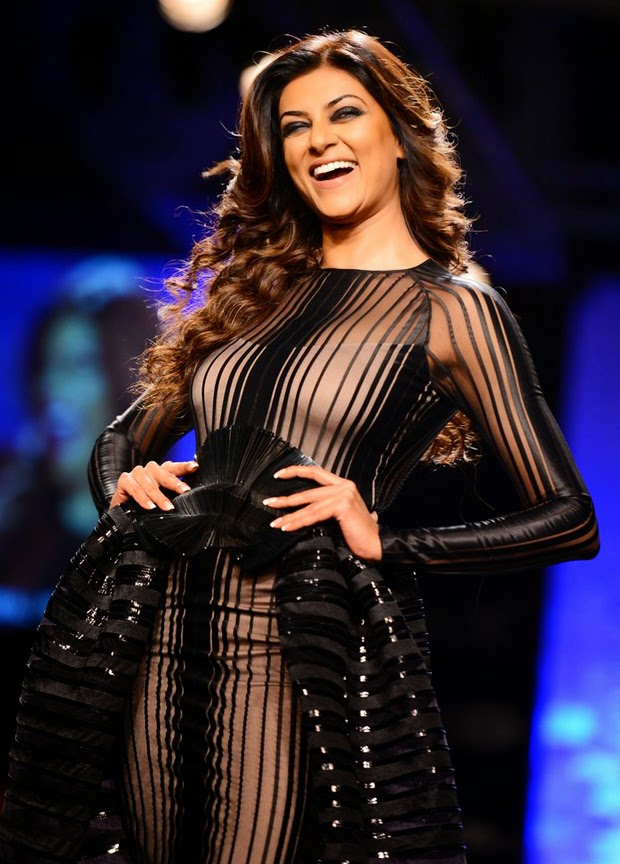 Sushmita Sen Stuns In Sheer Black Outfit