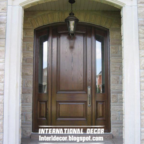 Classic Wood Doors Designs Colors Wood Doors With Glass Sides
