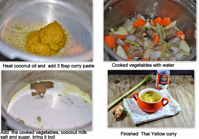 Thai Yellow Curry with vegetables/kaeng kari (Vegetarian Version ...