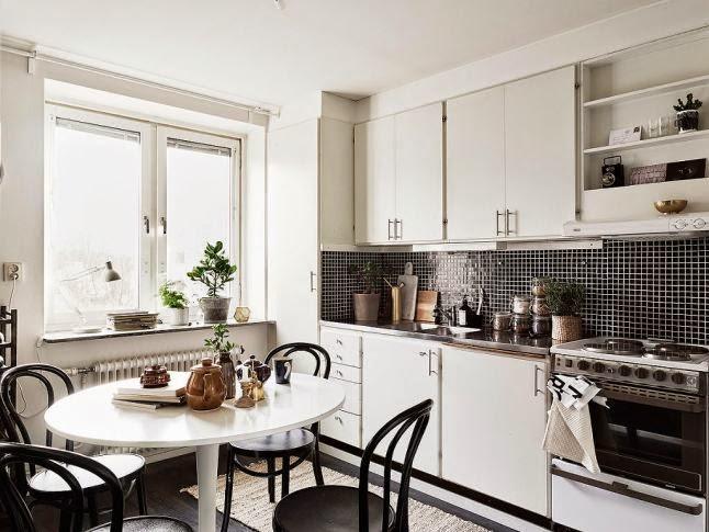Cocinas blancas grandes peque as en l o en u modernas y cl sicas boho deco chic - Cocinas clasicas blancas ...