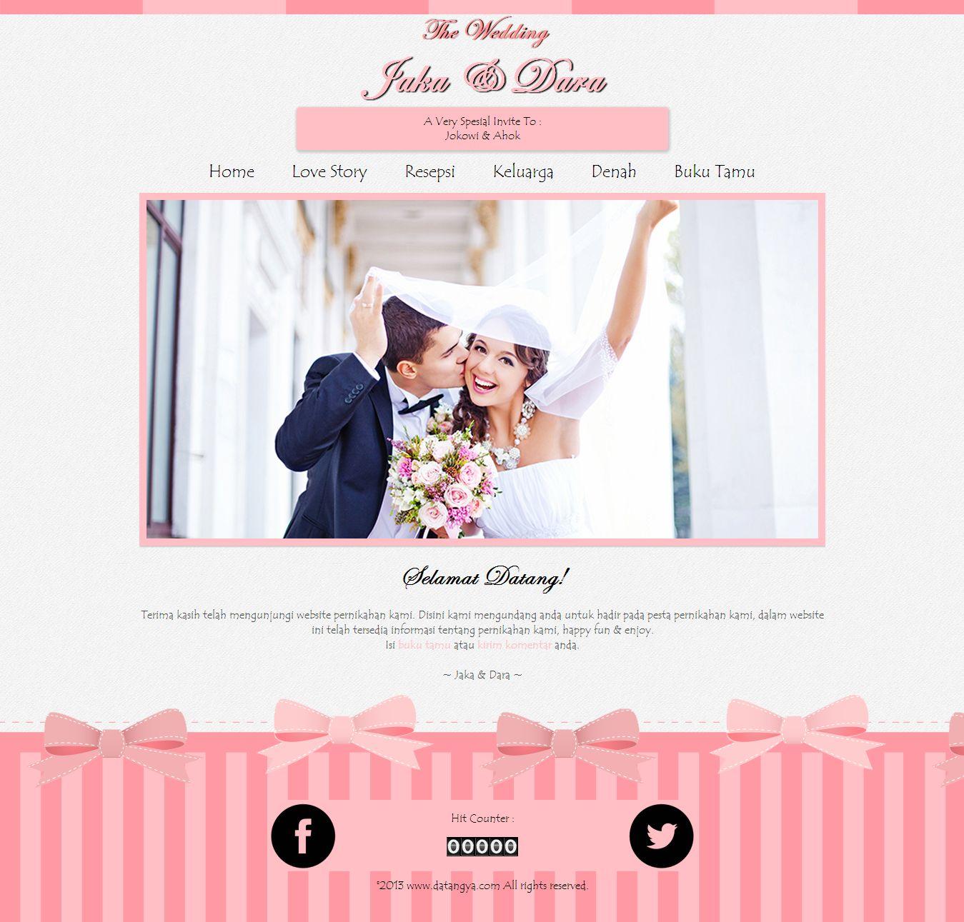 Undangan Pernikahan Online : Desain undangan online Sweety