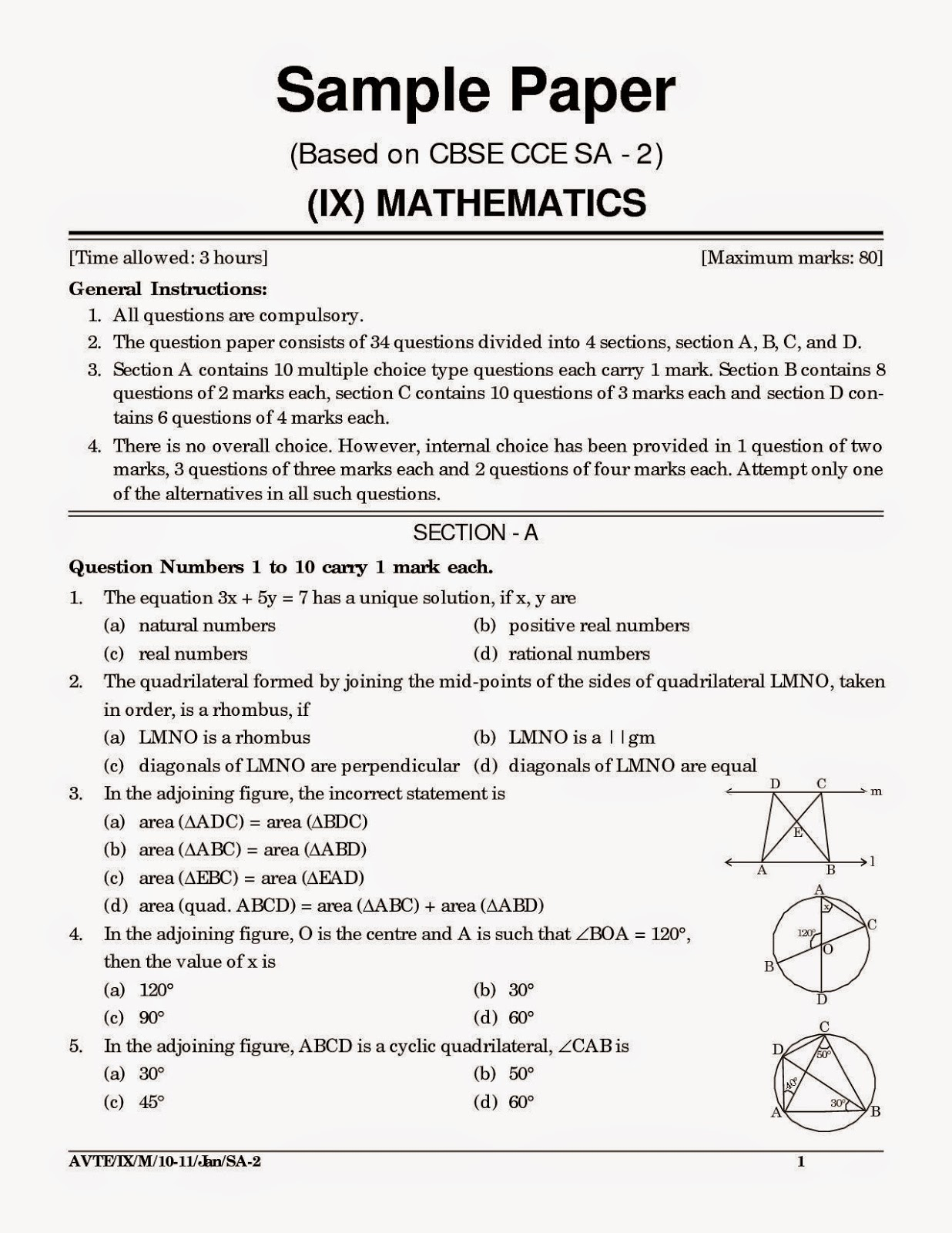 Sample math research paper