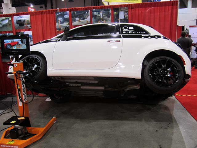 Fiat 500 on two wheels at the 2011 SEMA Show