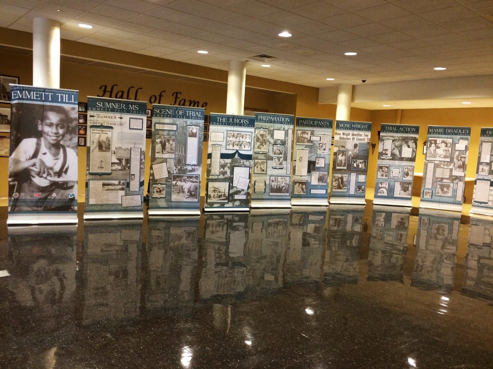 the adventures of a small town english teacher  traveling emmett till exhibit