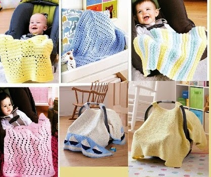 Crochet A Car Seat Blanket Or Take Along Cover For Baby Patterns