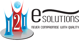 logo for data solutions who's name 121esolutions