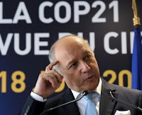 French Foreign Minister Laurent Fabius speaks at a news conference on global warming in June 2015. Paris will host the critical UN climate change talks in December 2015. A key element of a climate deal, the Green Climate Fund, is struggling to live up to expectations. (Credit: Reuters/Pascal Rossignol) Click to Enlarge.