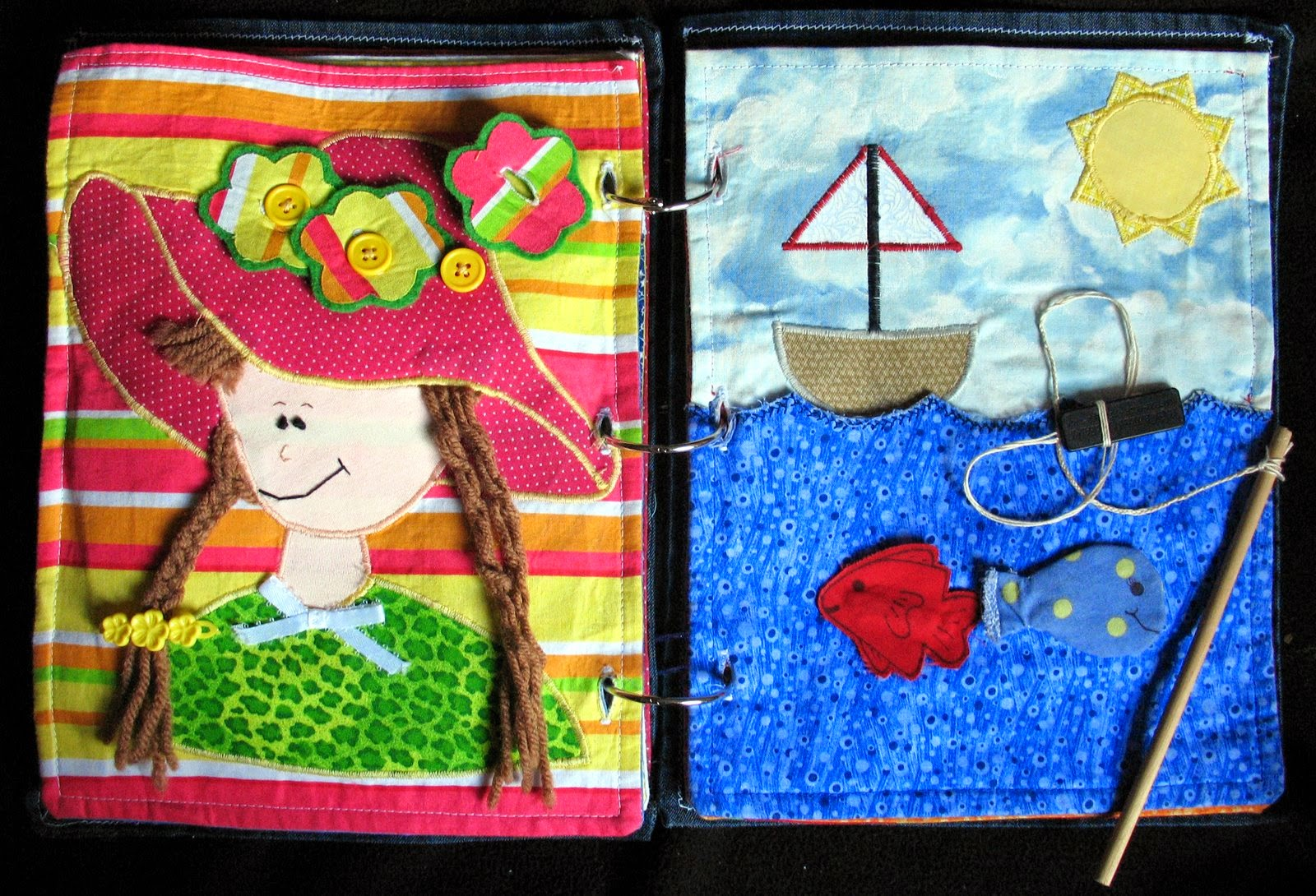 The craft patch fabric quiet book for Fishpond books