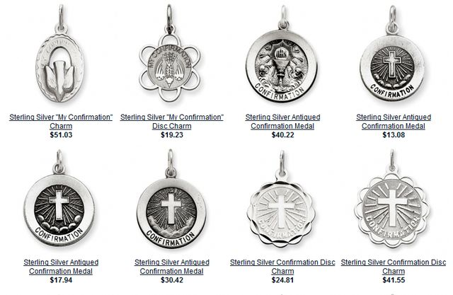 Confirmation Gift Jewelry - Silver & Gold Patron Saint Jewelry