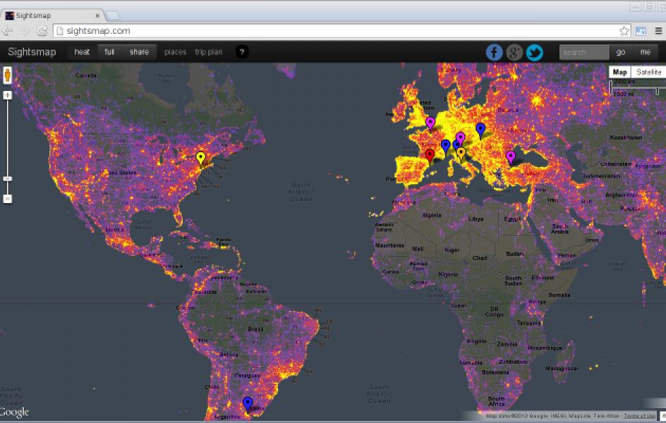 Nejvíce fotografovaná místa na světě /online aplikace/