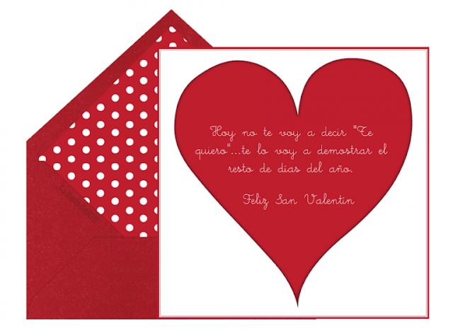 Frases  para el dia de san valentin para Facebook