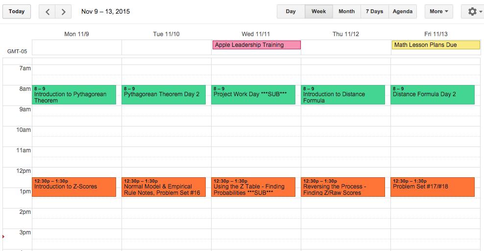 Slightly Skewed: Using Google Calendar for Lesson Planning = The BEST