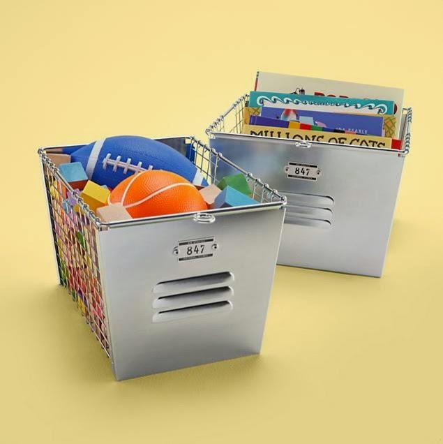 Kids Metal Locker Storage Baskets Design