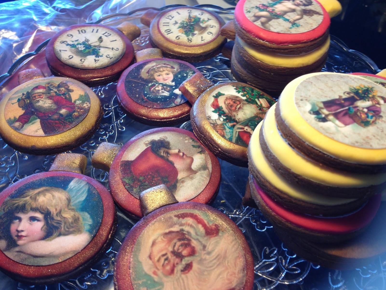 FotoPastel: Paso a Paso, decoracion galletas de Navidad Vintage con ...
