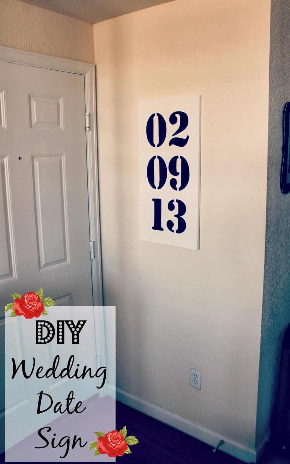 Wedding date sign in Australia