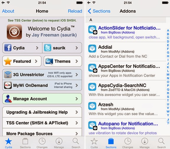 Cydia for IOS 7 Download
