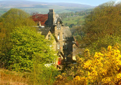 Westwood Lodge from Ilkley Moor
