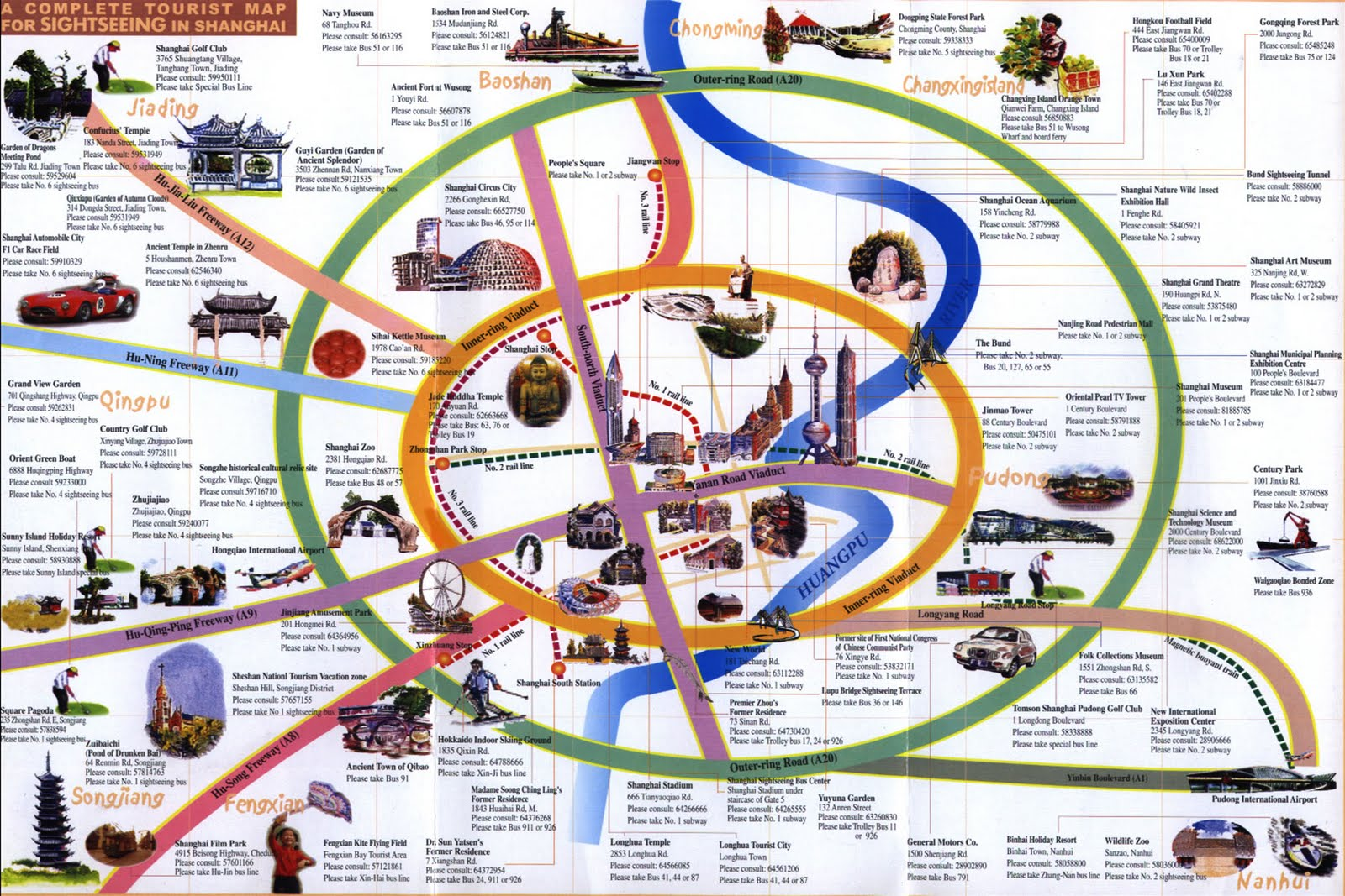 as you can see on the map below there is a lot of things to see in shanghai