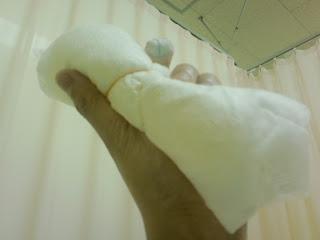 写真:ノドを冷やすための氷嚢