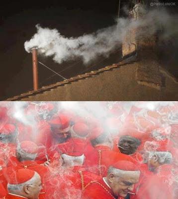 Meme humo blanco Vaticano