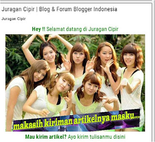 Blog Juragan Cipir