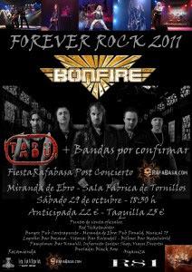 Forever Rock Festival en Miranda con Bonfire y Tabú