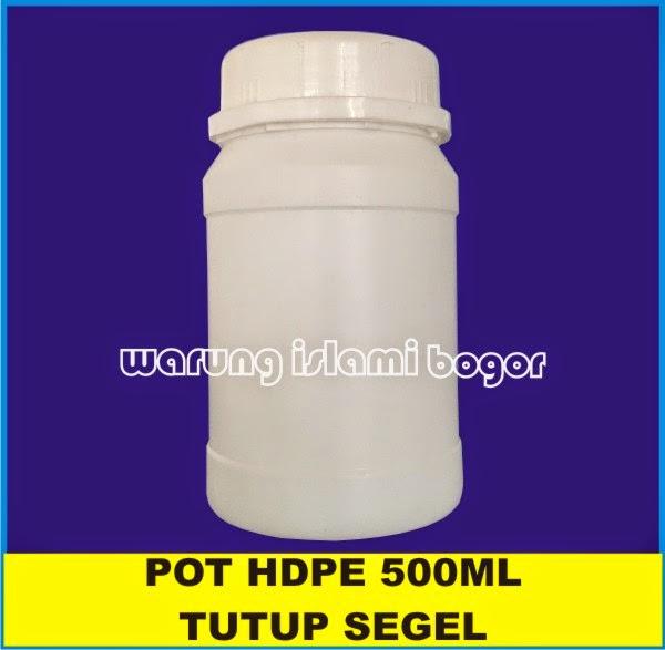 Jual Botol POT TOPLES LEM HDPE 500ml Tutup Segel