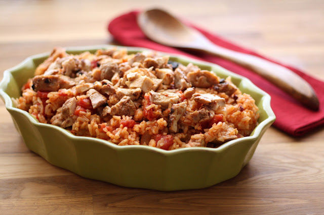 Chipotle Chicken and Rice (my version of Arroz con Pollo) recipe by Barefeet In The Kitchen