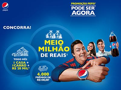 """Promoção Pepsi """"Pode ser agora"""". Faustão"""