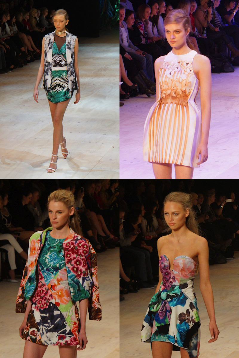 MBFFS 2013, trends, prints, sydney, fashion show, Blesse'd Are The Meek, Alice McCall, Shakuhachi