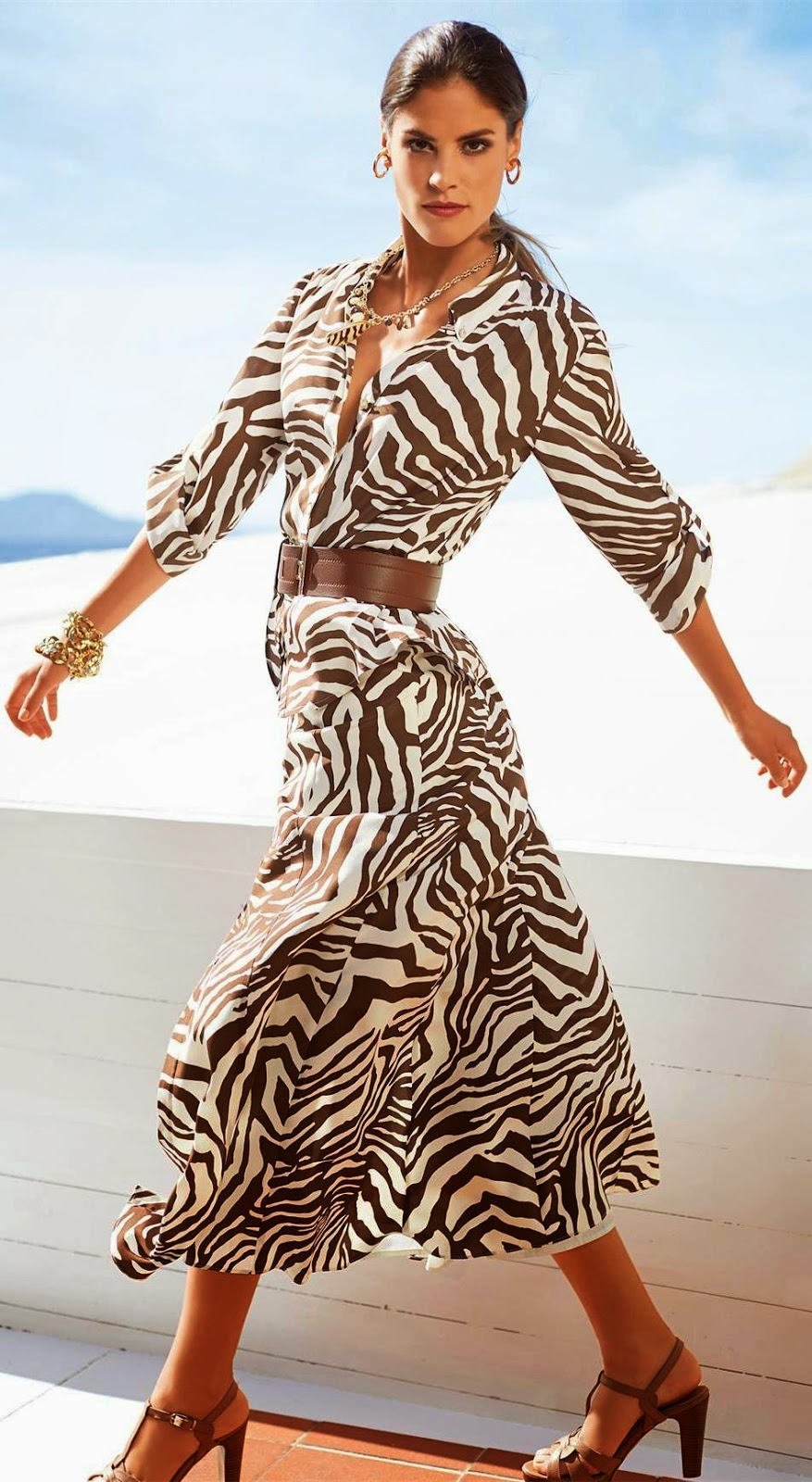 Madeleine Zebra Silk Skirt