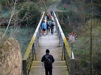 La Palanca o Pont de Ferro de l'Ametlla de Merola amb el terra fet amb travesses de fusta