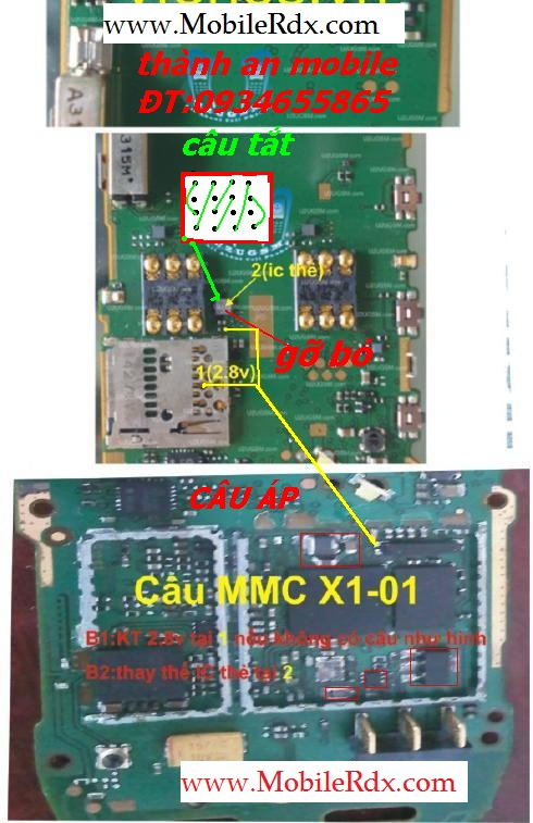 Nokia X1 MMC Ic Jumper Solution