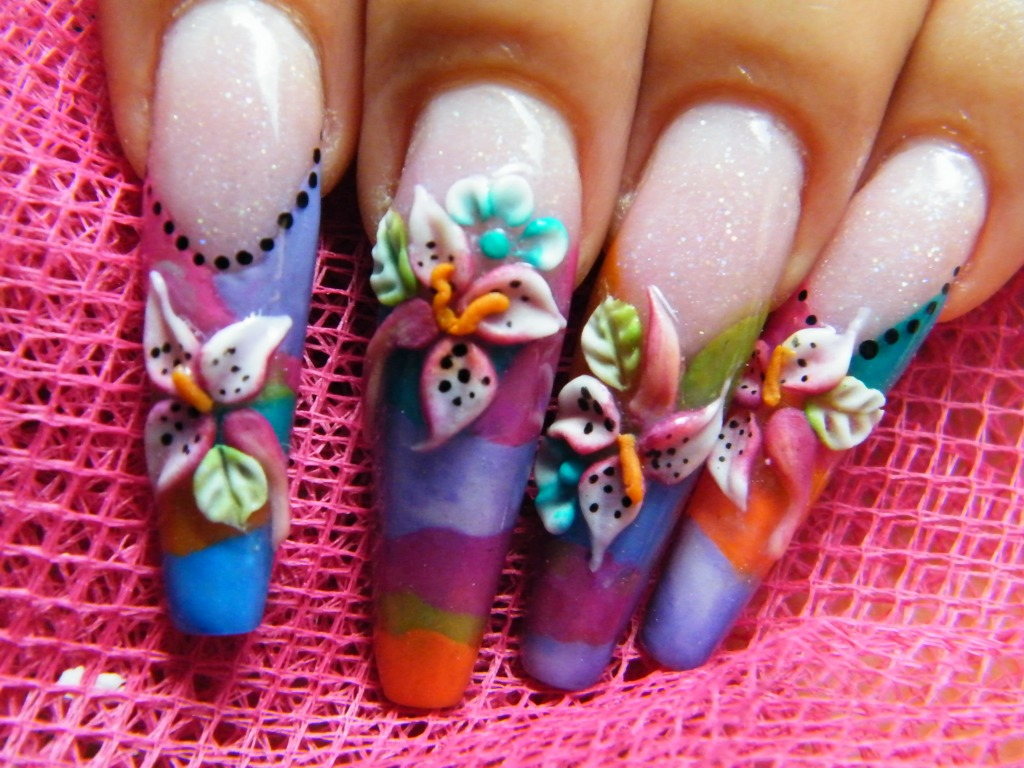 Nail art 3d nail art design for 3d acrylic nail art decoration