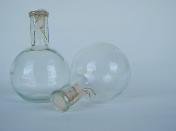 Vintage LABORATORY flask - decanting balloon at Space Rocket Store