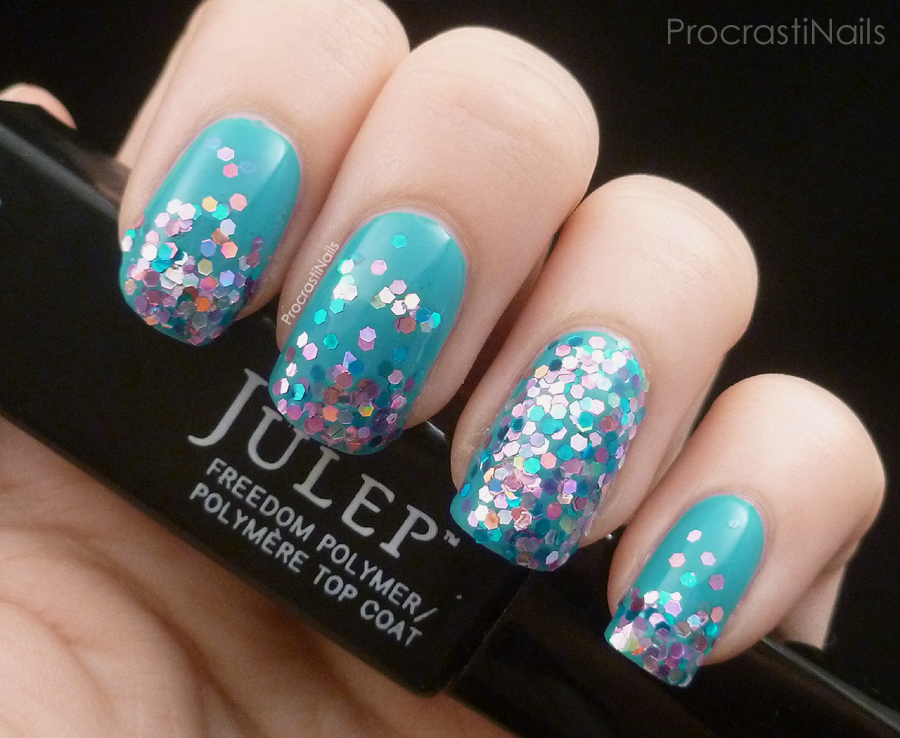 Loose Glitter Gradient Nails with Essence Multidimensional Glitters ...