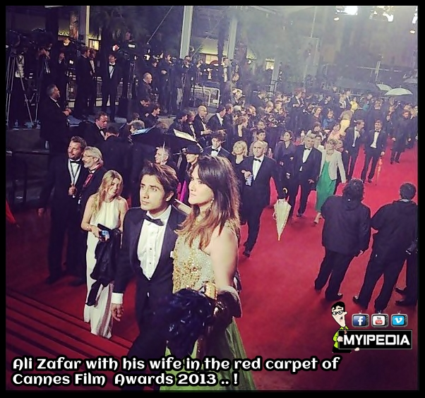 Ali Zafar With His Wife At Cannes Red Carpet