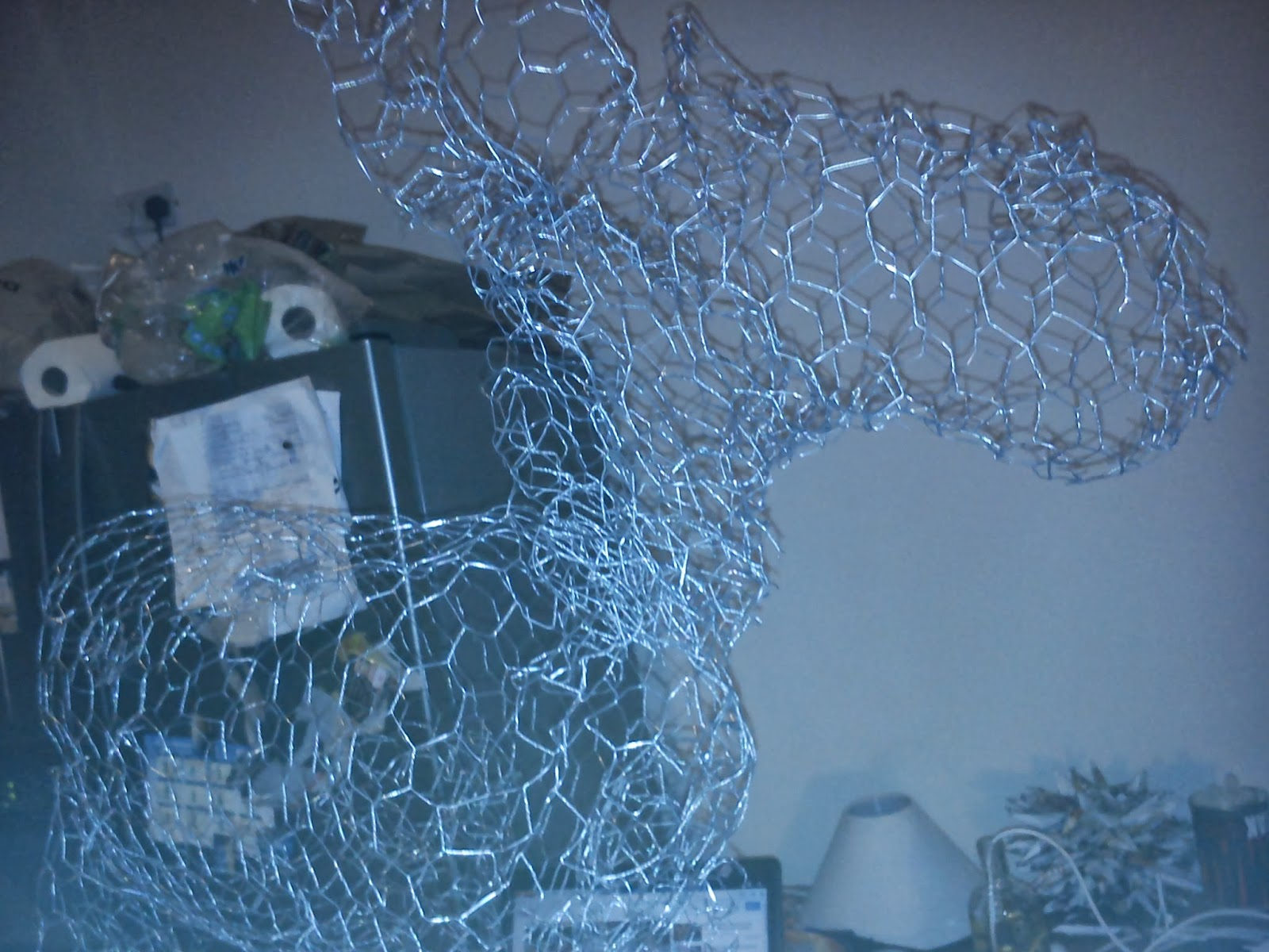 The Art Of Up-Cycling: Diy Christmas Decorations - Chicken Wire ...