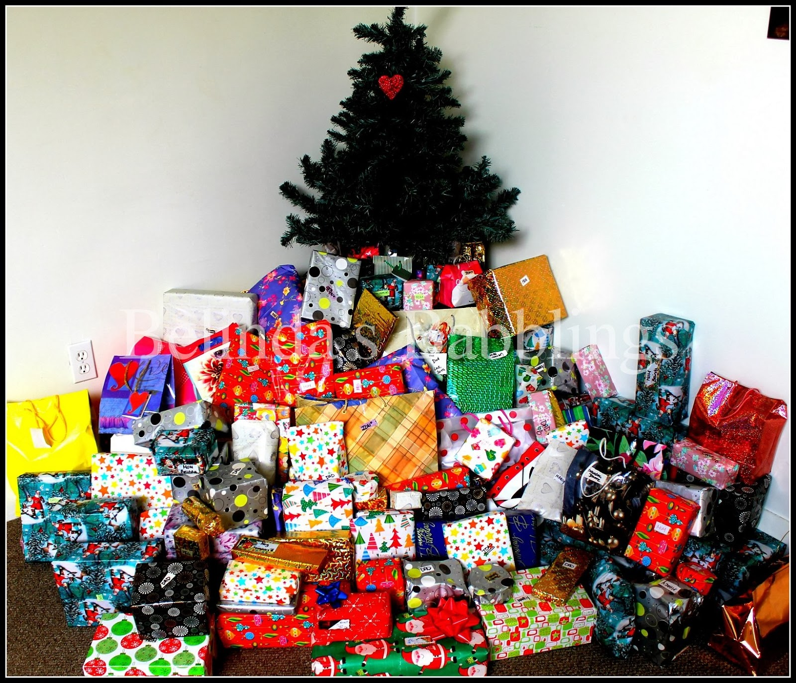 Watermarked Christmas Tree Presents
