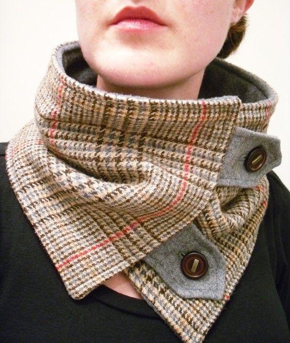 Тёплый шарф своими руками