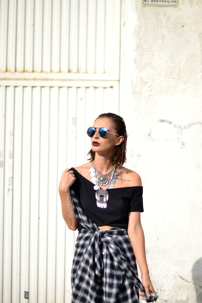 SHIRT, H&M, OUTFIT, SUMMER LOOK, BLACK, SILVER