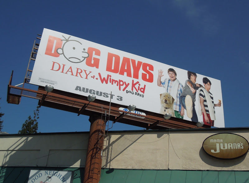 Dog Days Diary Wimpy Kid billboard