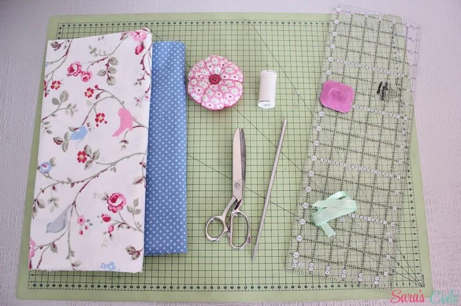 Tutorial para elaborar una bolsita de tela forrada para guardar