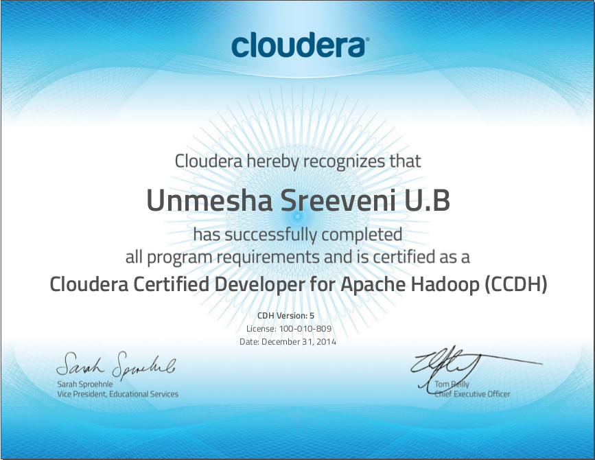 Here Is Something Cloudera Certified Hadoop Developer Ccd 410