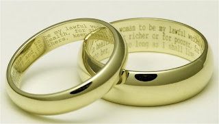 Inscribed Wedding Rings