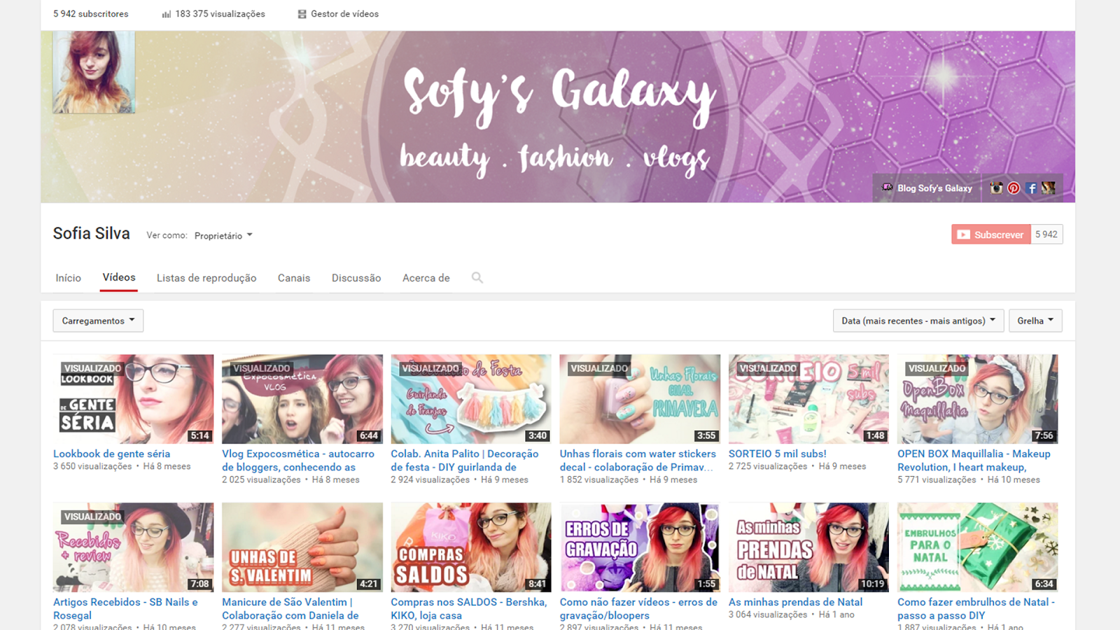 Sofysgalaxy Youtube Channel