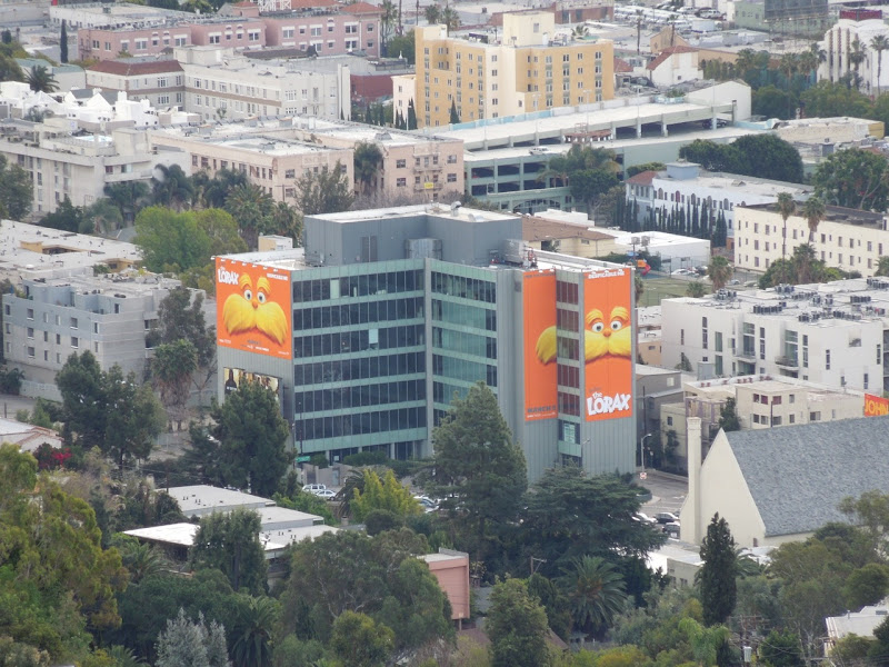 The Lorax giant movie billboards Hollywood