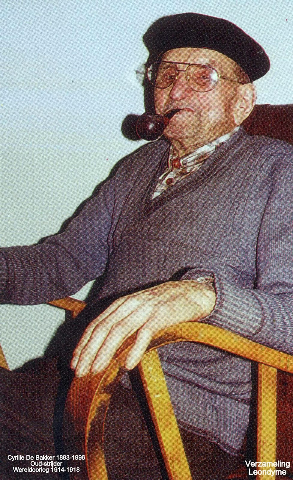 Cyrille De Bakker op honderdjarige leeftijd. Verzameling Leondyme.