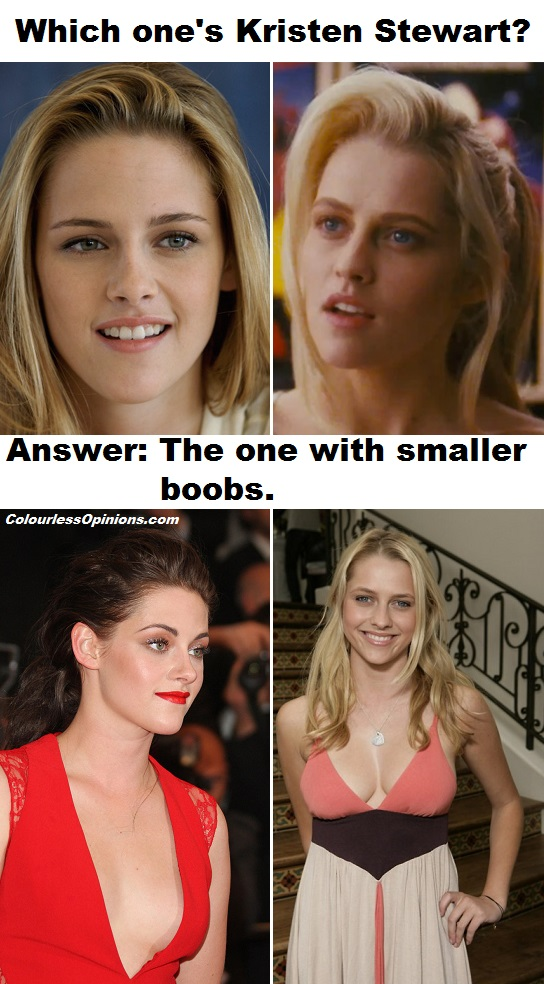 Kristen Stewart vs Teresa Palmer look alike